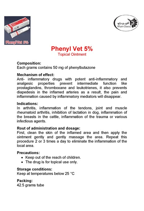 Phenyl Vet 5% Topical Ointment