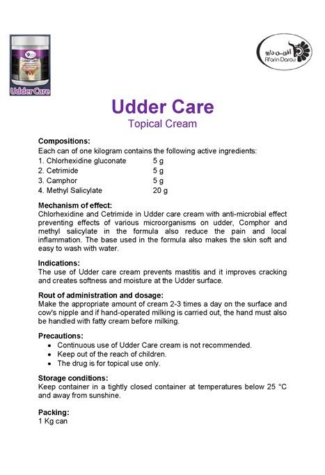 Udder Care Topical Cream